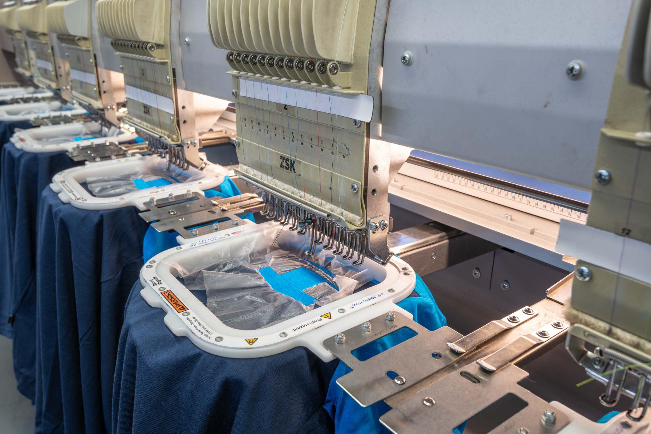 borduurmachines logo blauw